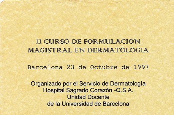 Curso de formulación magistral en dermatología