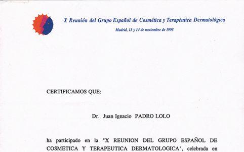 Reunión grupo español de Cosmética y Terapéutica Dermatológica