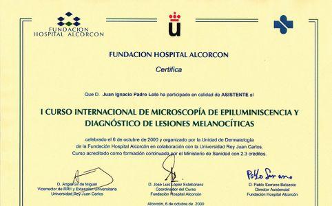 Curso internacional de microscopía de epiluminiscencia y diagnóstico de lesiones melanocíticas